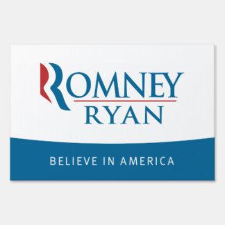 Romney Ryan cree en muestra de la yarda de América