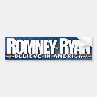 Romney - Ryan - creen en América Pegatina Para Auto