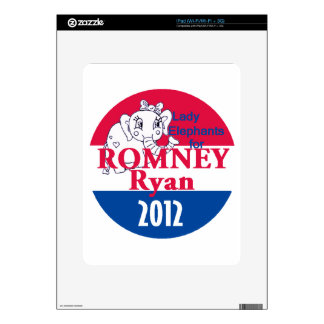 Romney Ryan Decals For The iPad