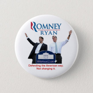 Romney-Ryan: Defending the American Way. Button