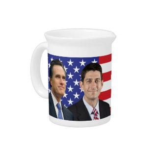Romney Ryan Drink Pitcher