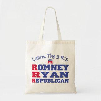 Romney Ryan Eagle Flag Canvas Bags
