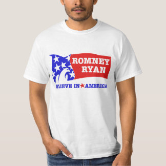 Romney Ryan Eagle Flag T-Shirt