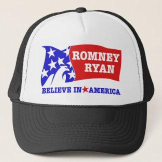 Romney Ryan Eagle Flag Trucker Hat