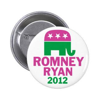 Romney Ryan - el elefante del GOP para las mujeres Pins