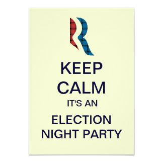 Romney Ryan Election Night Party Invitations