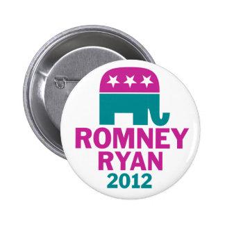 Romney Ryan - elefante del GOP para las mujeres Pin