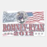 Romney Ryan Elephant Rectangular Sticker