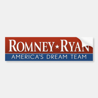 Romney Ryan - equipo ideal Etiqueta De Parachoque