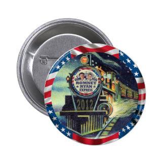 Romney Ryan expresa 2012 Pin Redondo 5 Cm