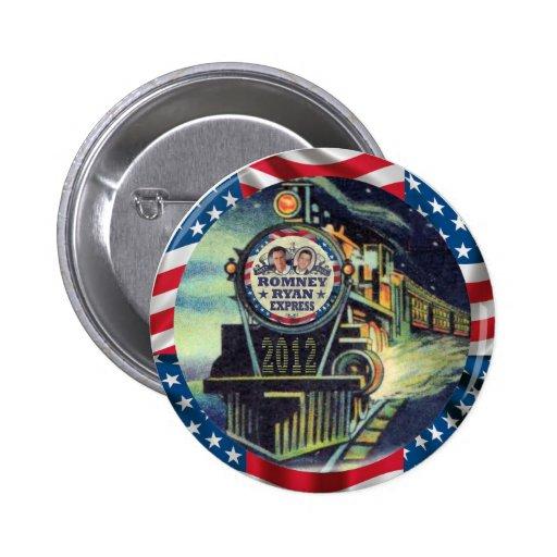 Romney Ryan Express 2012 Pins