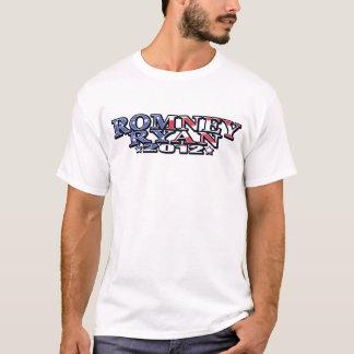 Romney Ryan Flag Text T-Shirt