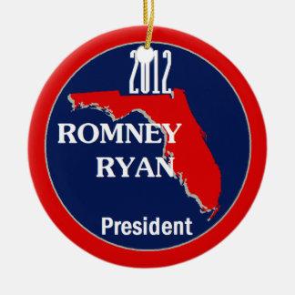 Romney Ryan FLORIDA Ceramic Ornament