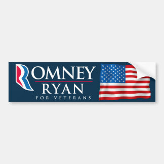 Romney Ryan For Veterans Bumper Stickers