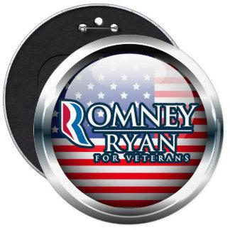 Romney Ryan For Veterans Buttons 2