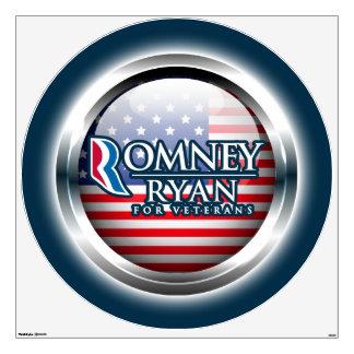 Romney Ryan For Veterans Wall Decals 3 Options