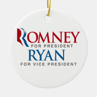 ROMNEY RYAN FOR VP LOGO.png Double-Sided Ceramic Round Christmas Ornament