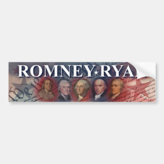Romney - Ryan - Forefathers Bumper Sticker