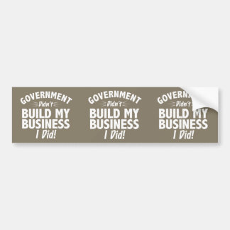 Romney Ryan - Government Didn t Build My BUsiness Bumper Sticker