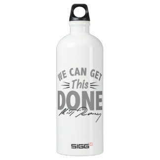 Romney Ryan - Government Didn't Build My BUsiness Aluminum Water Bottle