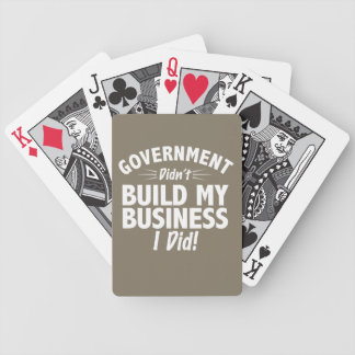 Romney Ryan - Government Didn't Build My BUsiness Bicycle Playing Cards