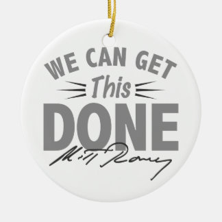 Romney Ryan - Government Didn't Build My BUsiness Double-Sided Ceramic Round Christmas Ornament