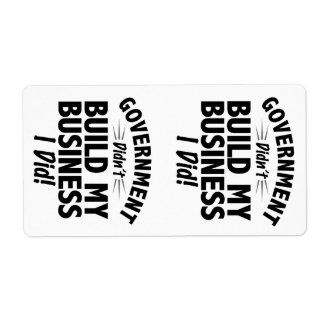 Romney Ryan - Government Didn't Build My BUsiness Personalized Shipping Label