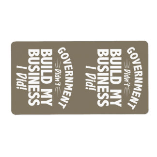Romney Ryan - Government Didn't Build My BUsiness Shipping Label