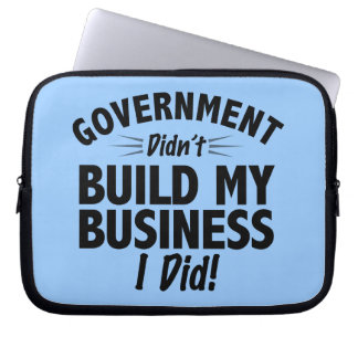 Romney Ryan - Government Didn't Build My BUsiness Laptop Sleeves