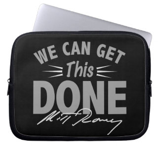Romney Ryan - Government Didn't Build My BUsiness Laptop Sleeve