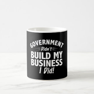Romney Ryan - Government Didn't Build My BUsiness Classic White Coffee Mug