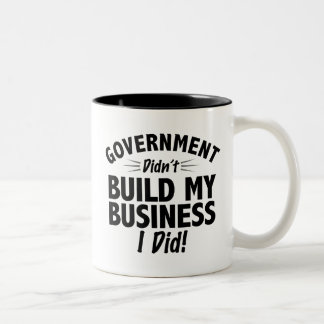 Romney Ryan - Government Didn't Build My BUsiness Two-Tone Coffee Mug