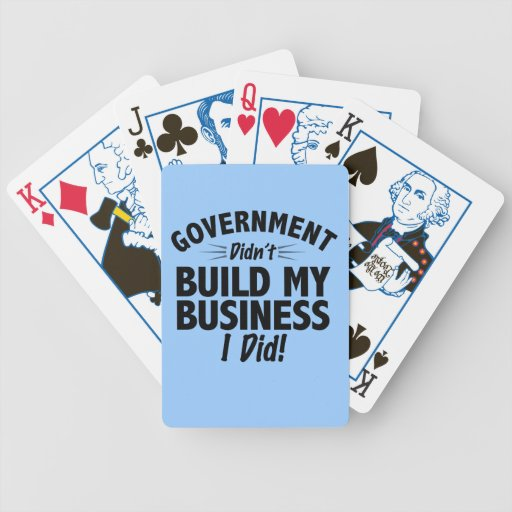 Romney Ryan - Government Didn't Build My BUsiness Poker Cards