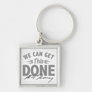 Romney Ryan - Government Didn't Build My BUsiness Silver-Colored Square Keychain