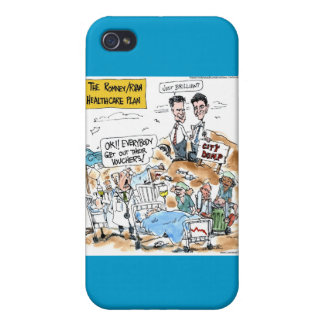 Romney/Ryan Health Care Funny Gifts &  Cases For iPhone 4