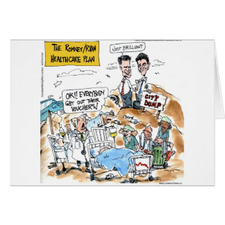 Romney/Ryan Health Care Funny Gifts & Tees Greeting Card