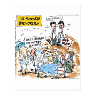 Romney/Ryan Health Care Funny Gifts & Tees Postcard
