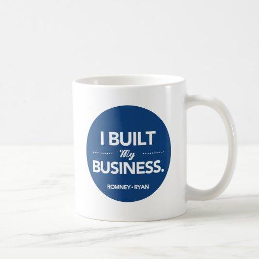 Romney Ryan I Built My Business (Blue) Mug