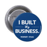 Romney Ryan I Built My Business (Blue) Pins