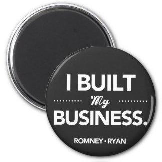 Romney Ryan I Built My Business Round (Black) 2 Inch Round Magnet