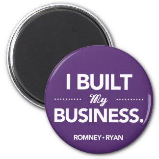 Romney Ryan I Built My Business Round (Purple) 2 Inch Round Magnet