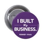 Romney Ryan I Built My Business Round (Purple) Pin