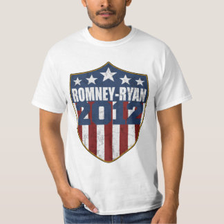 Romney Ryan in 2012 shield distressed T-Shirt