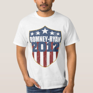 Romney Ryan in 2012 shield faded T-Shirt