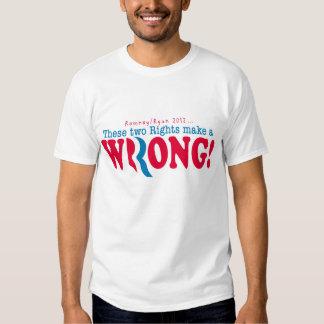 Romney Ryan incorrecto Playera