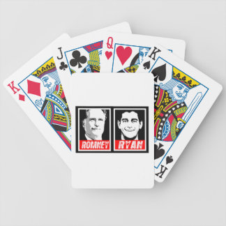 ROMNEY RYAN INK BLOCK BICYCLE PLAYING CARDS