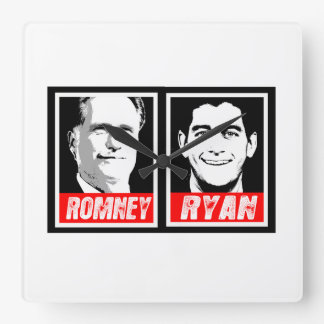 ROMNEY RYAN INK BLOCK WALLCLOCKS