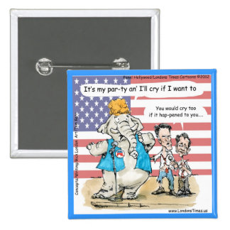 Romney & Ryan Its My Party Funny Gifts & Cards Pinback Button