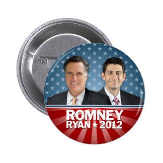 Romney Ryan - Jugate con las barras y estrellas Pin