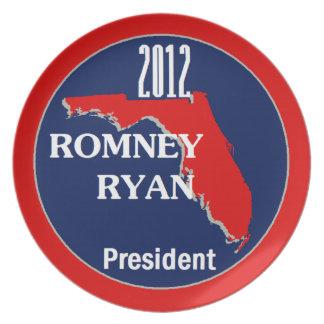 Romney Ryan la FLORIDA Platos